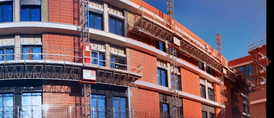 Plataformas motorizadas de ATES construction en obras nuevas