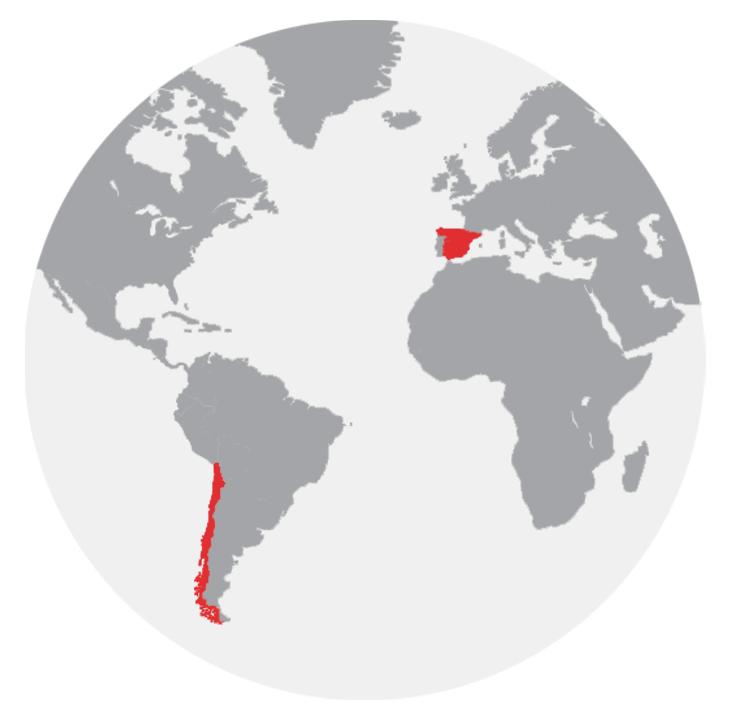 Donde estamos ATES presencia internacional