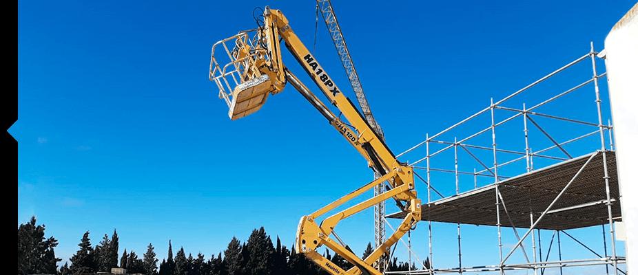 Brazos articulados de maquinaria auxiliar de ATES Construction