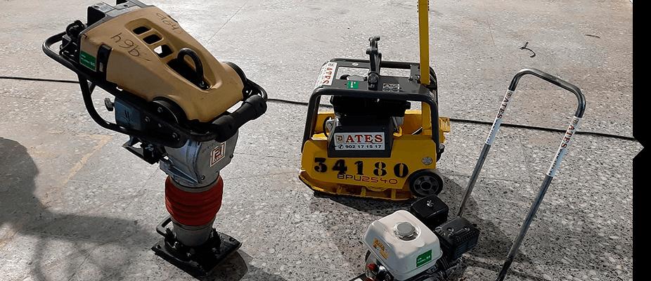 Maquinaria auxiliar de ATES Construction de compactación