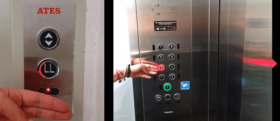 Ascensores modernizados con sistema contactless en la llamada por ATES elevators