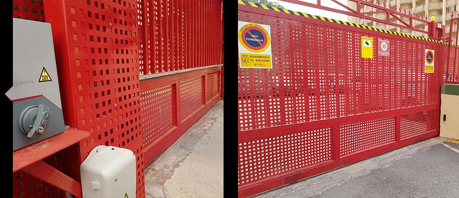 Reparación de puertas de garaje por ATES Elevators