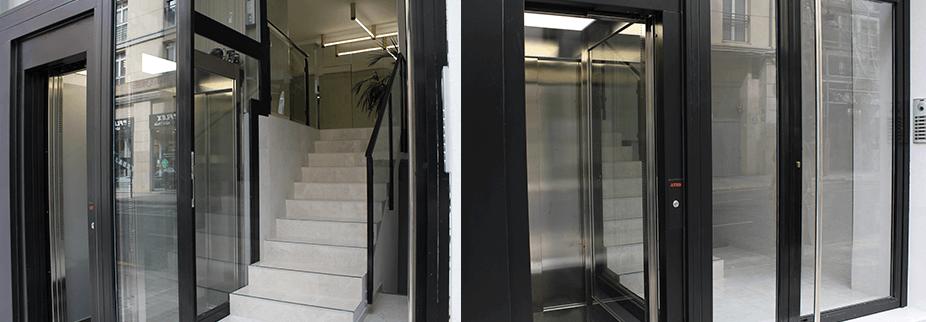 Resultado del ascensor en edificios a pie de calle