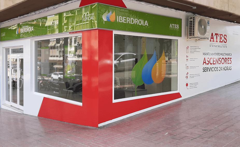 Show room de Benidorm, Alicante. Punto de atención al cliente, colaboradores de Iberdrola y asesoramiento energético por ATES Energy solutions y Mantenimiento a ascensores en la Comunidad Valenciana, toda España y Chile con ATES Elevators.